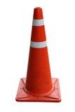 Cones alaranjados do tráfego isolados Foto de Stock Royalty Free