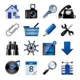 Ícones azuis 2 do Web site e do Internet Foto de Stock Royalty Free