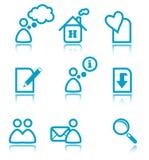 Ícones azuis do Web Fotografia de Stock
