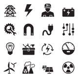 Ícones básicos da eletricidade ajustados Foto de Stock Royalty Free
