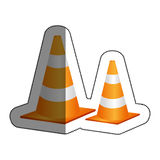 cones caution sign icon Royalty Free Stock Photo