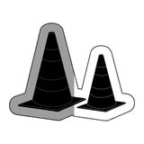 cones caution sign icon Stock Image