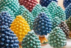 Cones cerâmicos do pino Imagem de Stock