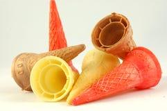 Cones coloridos Imagens de Stock