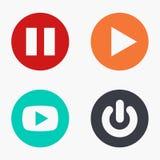 Ícones coloridos do jogo moderno do vetor ajustados Foto de Stock Royalty Free