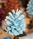 Cones coloridos do pinho do pinheiro imagem de stock