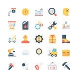 Ícones coloridos industriais 2 do vetor Fotos de Stock