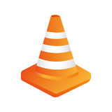 cones construction isolated flat  design Royalty Free Stock Photography