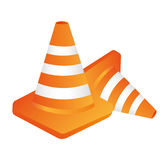 cones construction isolated flat  design Stock Photography