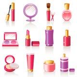 Ícones cosméticos Imagem de Stock Royalty Free