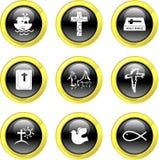 Ícones cristãos Imagem de Stock
