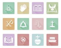 Ícones cristãos Fotografia de Stock Royalty Free