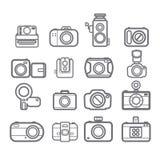 Ícones da câmera Imagem de Stock