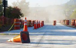 Cones da construção de estradas Fotos de Stock