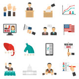 Ícones da cor da eleição Fotos de Stock