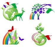 Ícones da ecologia Foto de Stock