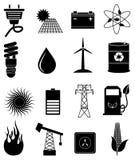 Ícones da energia de Eco ajustados Fotografia de Stock Royalty Free