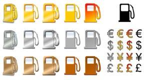 Ícones da estação de tanque Foto de Stock Royalty Free