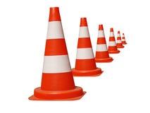 Cones da estrada Fotografia de Stock Royalty Free