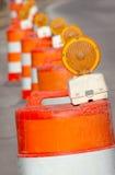 Cones da estrada Fotografia de Stock