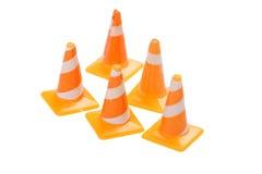 Cones da estrada do brinquedo Fotografia de Stock Royalty Free