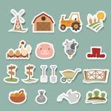 Ícones da exploração agrícola ajustados Fotografia de Stock Royalty Free