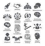 Ícones da gestão empresarial Bloco 01 Imagens de Stock