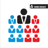 Ícones da hierarquia do negócio Imagem de Stock Royalty Free