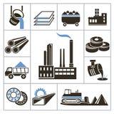 Ícones da indústria pesada Foto de Stock