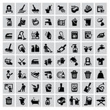 Ícones da limpeza Imagens de Stock Royalty Free