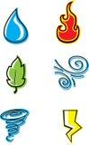 Ícones da natureza Imagens de Stock