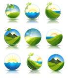 Ícones da natureza Imagens de Stock Royalty Free