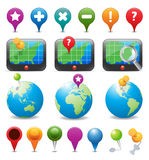 Ícones da navegação do GPS Imagens de Stock Royalty Free