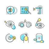 Ícones da optometria Imagem de Stock