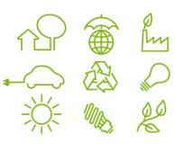 Ícones da proteção de ambiente Fotos de Stock