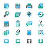 Ícones da relação do Internet Imagem de Stock Royalty Free