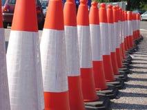 Cones da segurança Foto de Stock Royalty Free