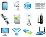 Ícones da tecnologia sem fios Fotografia de Stock