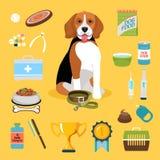 Ícones da vida do cão Foto de Stock Royalty Free