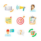 Ícones da Web do feedback ajustados Foto de Stock Royalty Free