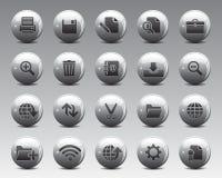 ícones da Web e do escritório de 3d Grey Balls Stock Vetora na alta resolução Foto de Stock