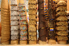Cones de gelado Fotografia de Stock Royalty Free