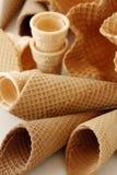 Cones de gelado Fotografia de Stock