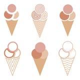 Cones de gelado Fotos de Stock Royalty Free