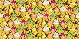 Cones de gelado aleatórios Fotografia de Stock
