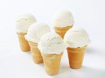 Cones de gelado brancos Foto de Stock Royalty Free