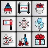 Ícones de Purim Fotos de Stock Royalty Free