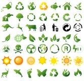 Ícones de recicl ambientais Fotografia de Stock Royalty Free