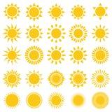 Ícones de Sun Imagens de Stock Royalty Free