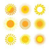 Ícones de Sun Imagem de Stock Royalty Free